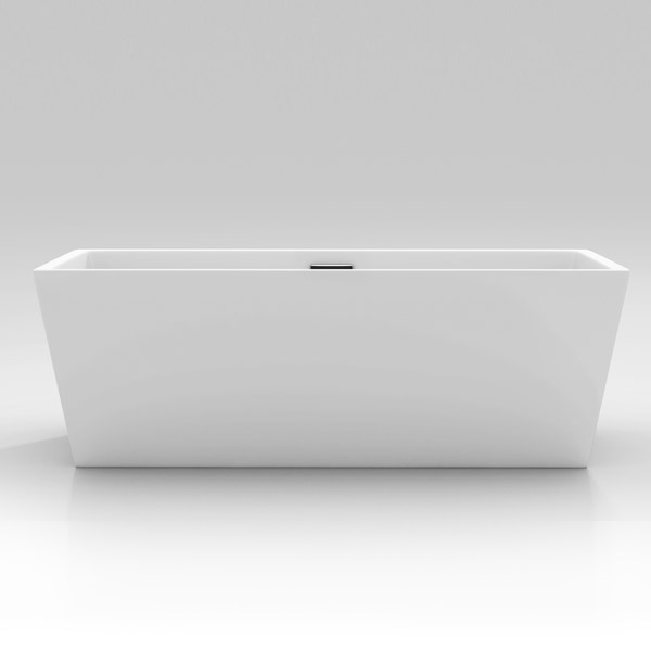 valencia 1500 luxury modern square double ended freestanding bath