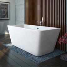 Valencia 1615 Square Modern Freestanding Bath Medium Image