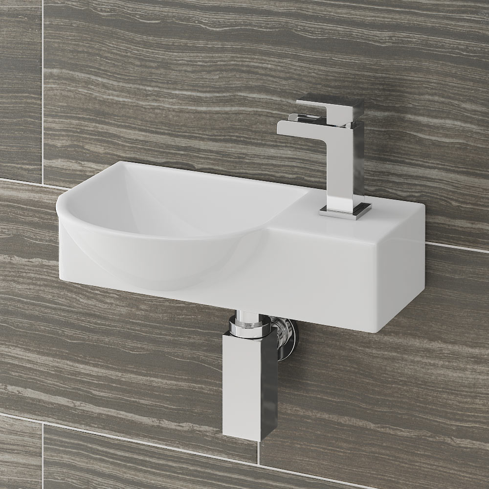 Valencia 400mm Mini Wall Hung Ceramic Basin At Victorian