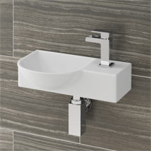 Valencia 400mm Mini Wall Hung Ceramic Basin Medium Image
