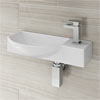 Valencia 500mm Mini Wall Hung Ceramic Basin profile small image view 1