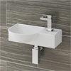 Valencia 400mm Mini Wall Hung Bathroom Basin profile small image view 1