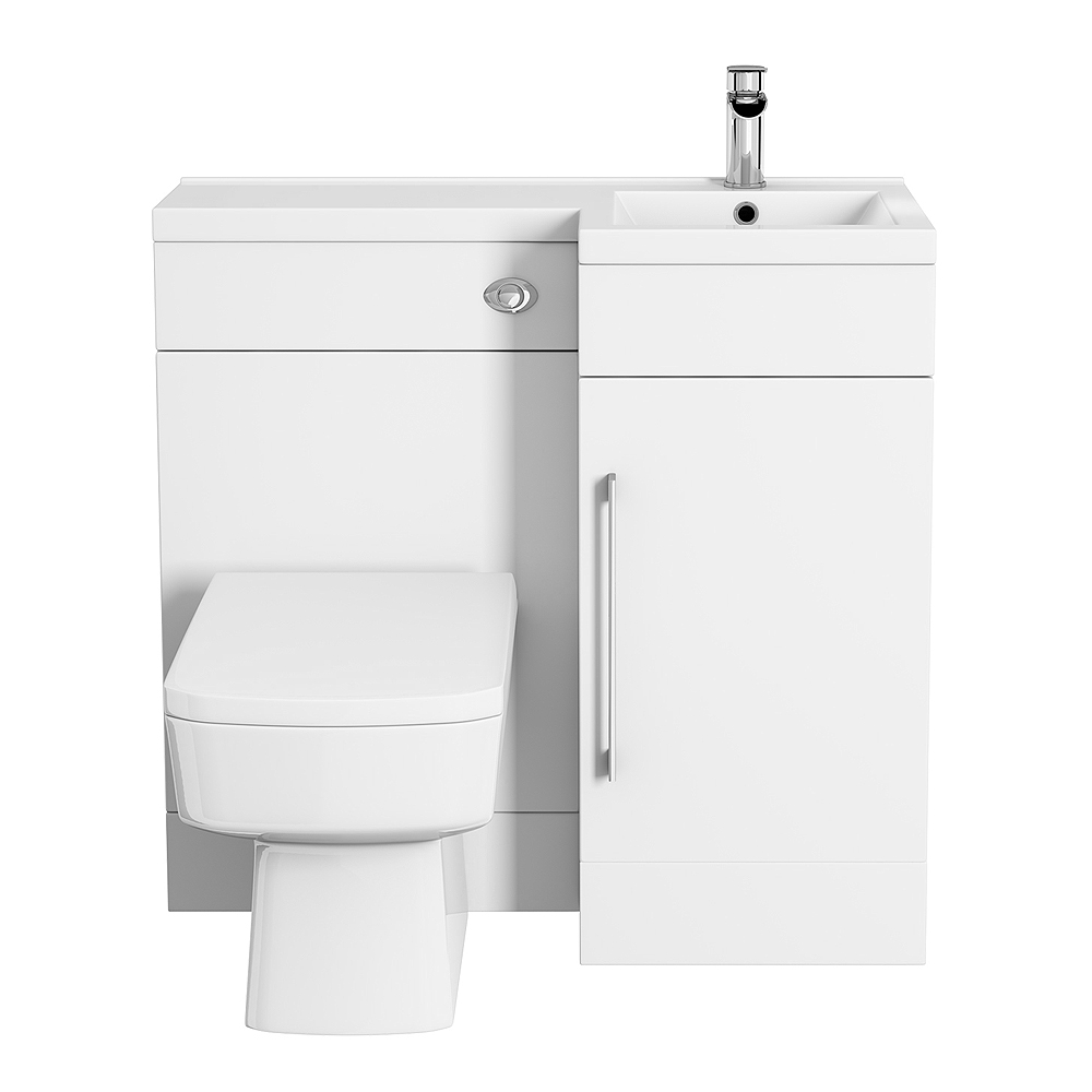 valencia 900 combination basin wc unit with square toilet online. Black Bedroom Furniture Sets. Home Design Ideas
