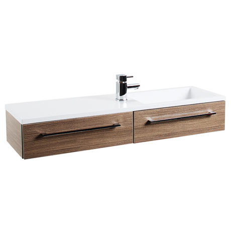 Valencia 995mm Oak Wall Hung Basin Unit