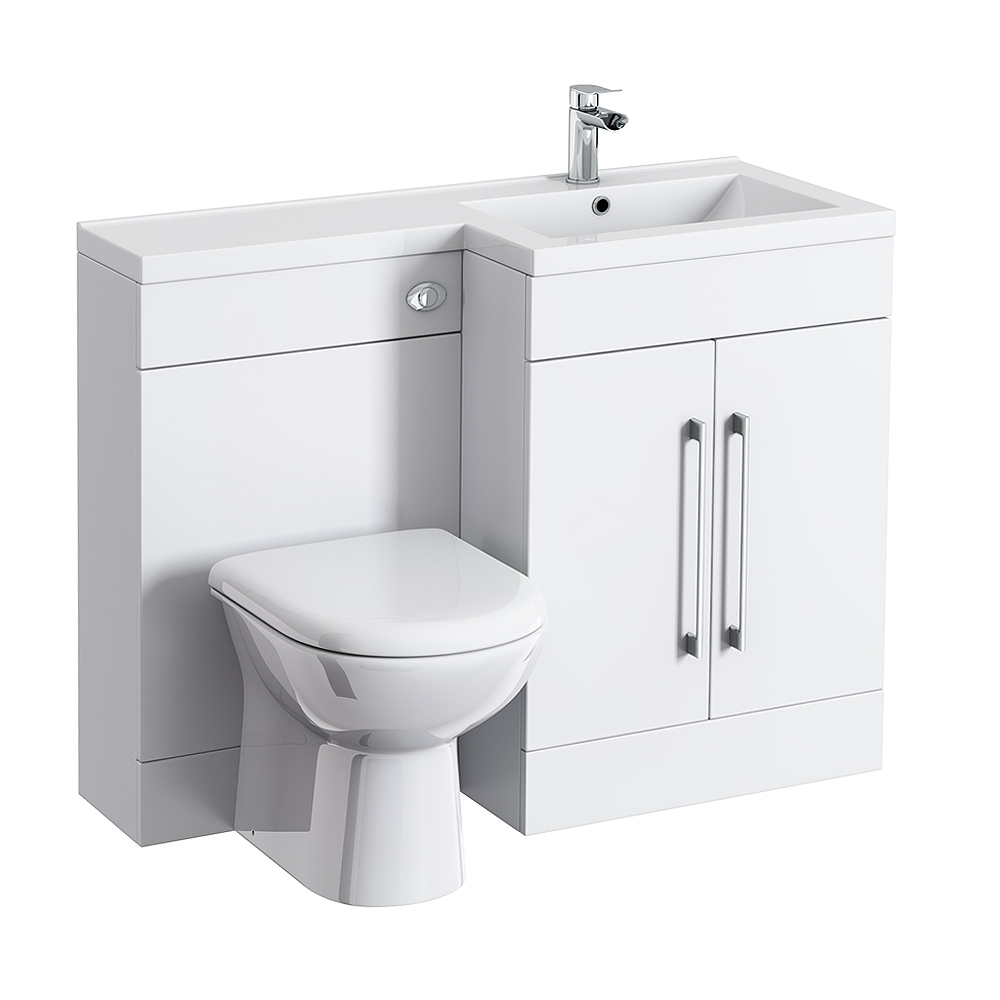 valencia 1100 combination basin wc unit with round. Black Bedroom Furniture Sets. Home Design Ideas