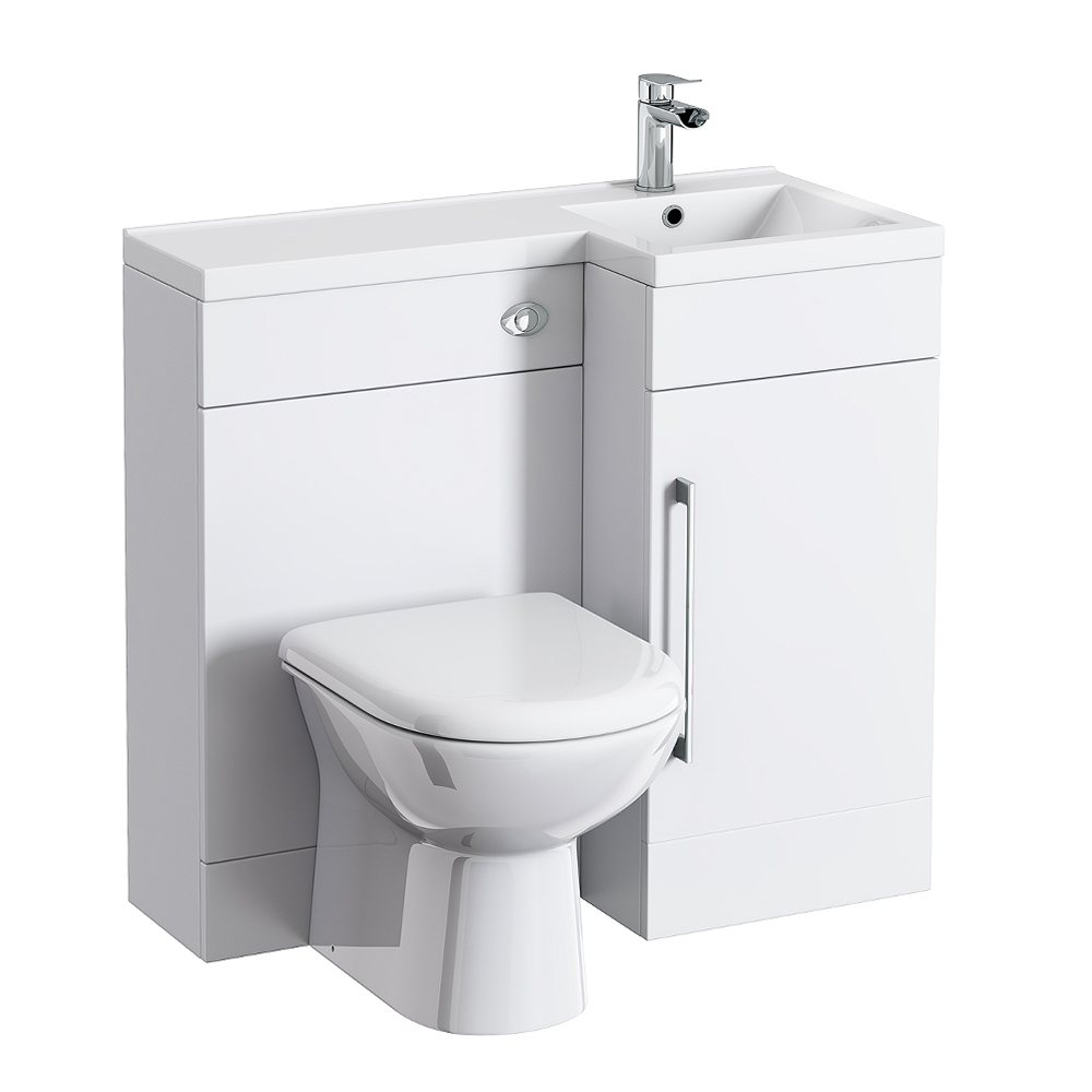 Valencia Combination Bathroom Suite Unit with Round Toilet - 900mm profile large image view 3