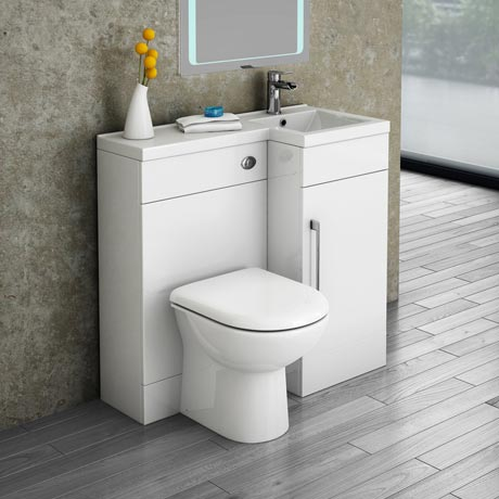 Valencia Combination Bathroom Suite Unit with Round Toilet - 900mm
