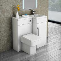 Valencia Combination Bathroom Suite Unit with Square Toilet - 900mm Medium Image