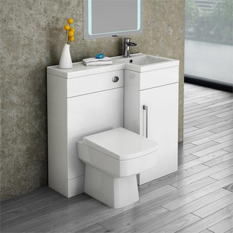 Valencia Combination Bathroom Suite Unit with Square Toilet - 900mm