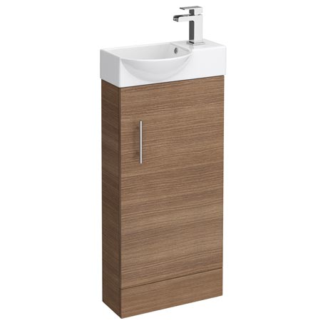 Valencia Mini Oak Vanity Unit - 400mm Wide