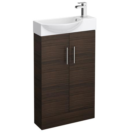 Valencia Mini Walnut Vanity Unit - 500mm Wide