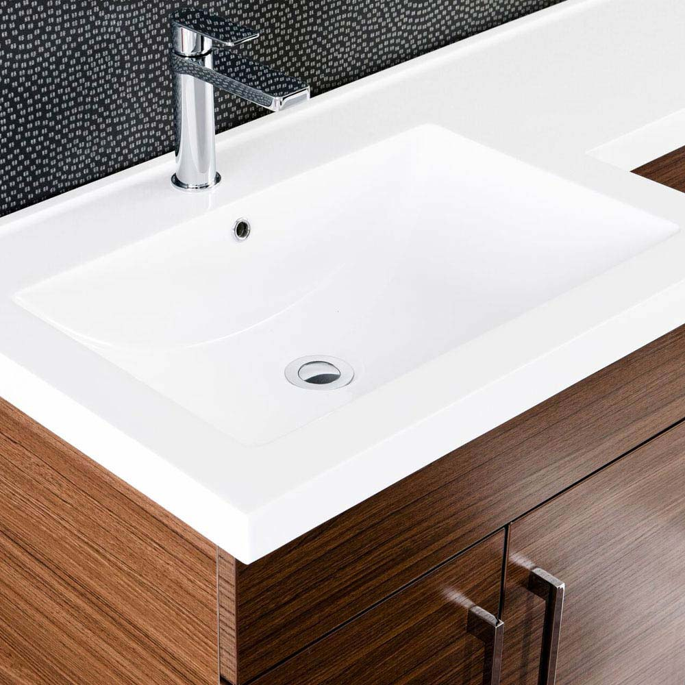Valencia Walnut Combination Basin and WC Unit - 1100mm profile large image view 2