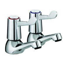 Bristan - Value Lever Basin Taps - Chrome Plated w/ Ceramic Disc Valves - VAL-1/2-C-CD Medium Image