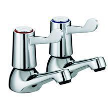 Bristan - Value Lever Bath Taps - Chrome Plated w/ Ceramic Disc Valves - VAL-3/4-C-CD Medium Image