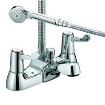 Bristan - Value Lever Bath Shower Mixer - Chrome Plated w/ Ceramic Disc Valves - VAL-BSM-C-CD Medium Image