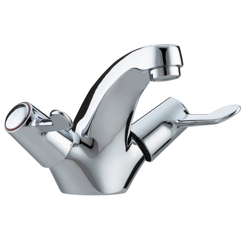 Bristan - Value Lever Mono Basin Mixer w/ Pop Up Waste - Chrome Plated w/ Ceramic Disc Valves - VAL- Large Image