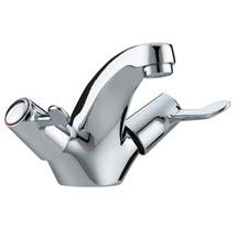 Bristan - Value Lever Mono Basin Mixer w/ Pop Up Waste - Chrome Plated w/ Ceramic Disc Valves - VAL-