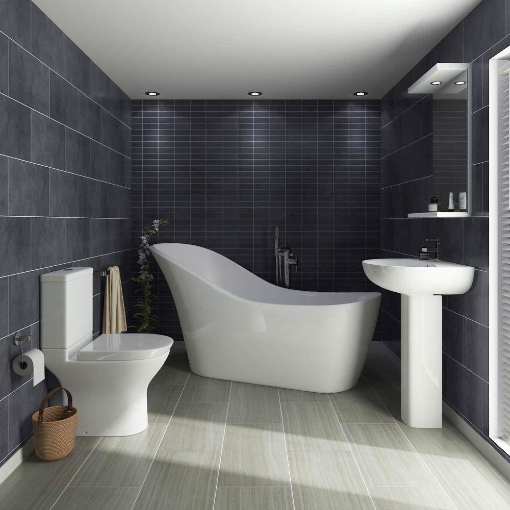 Vegas Modern Freestanding Bath Suite Large Image
