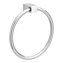 Vela Round Towel Ring - Chrome Medium Image