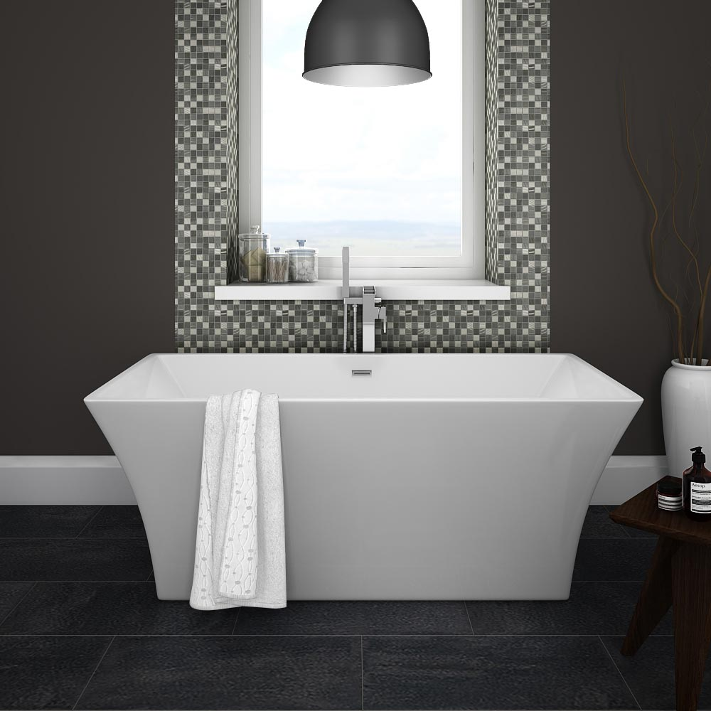 Venice 1520 Square Modern Free Standing Bath Large Image