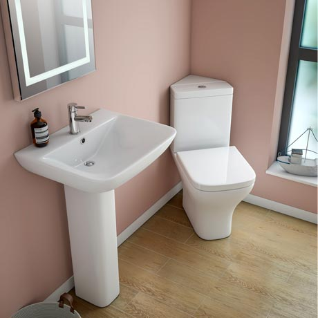 Venice 4 piece corner bathroom suite at victorian for Small 4 piece bathroom designs