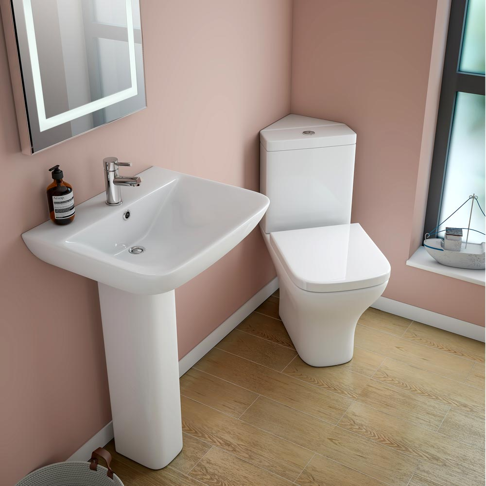 Venice Modern Corner Toilet + Soft Close Seat