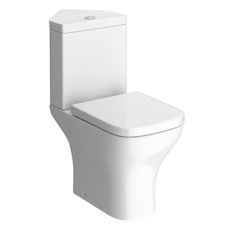 Venice Modern Corner Toilet with Soft Close Seat