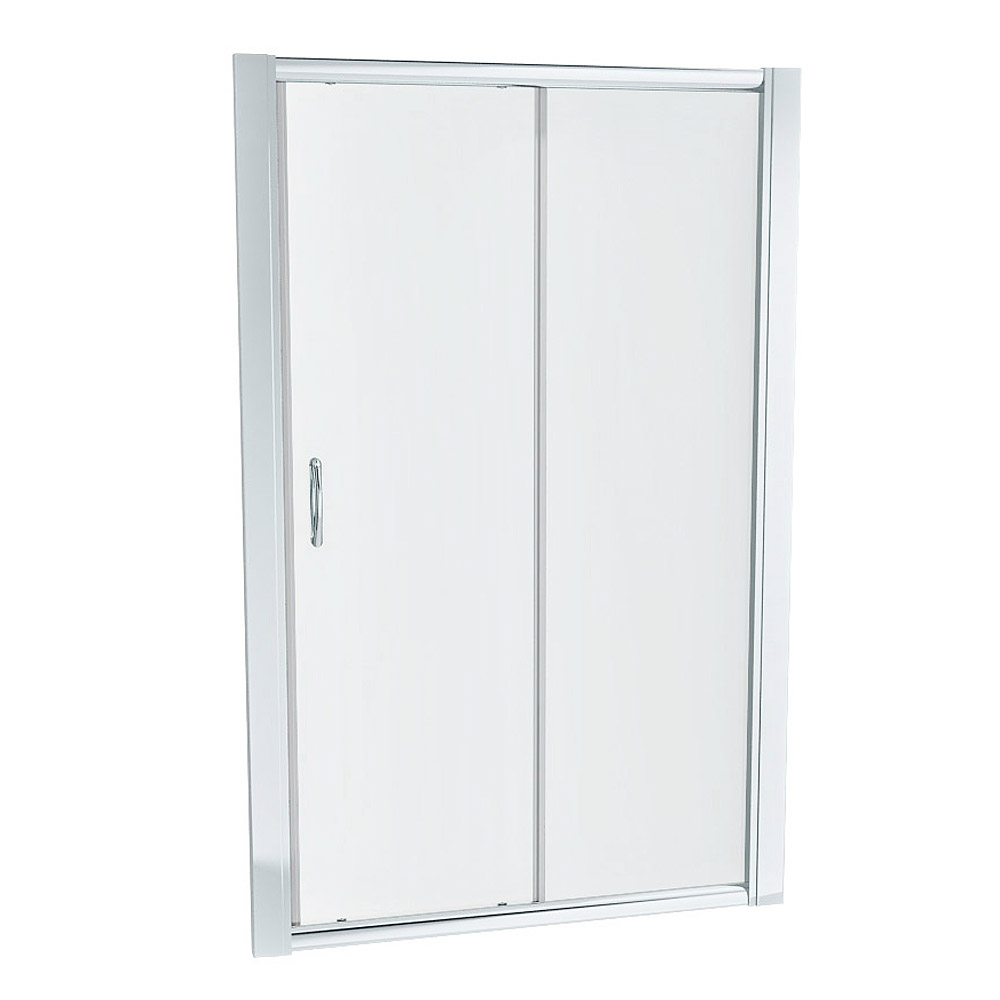 Ventura 1000 x 800mm Sliding Door Shower Enclosure with Pearlstone Tray Profile Large Image