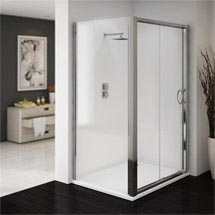 Ventura 1200 x 700mm Sliding Door Shower Enclosure with Pearlstone Tray Medium Image