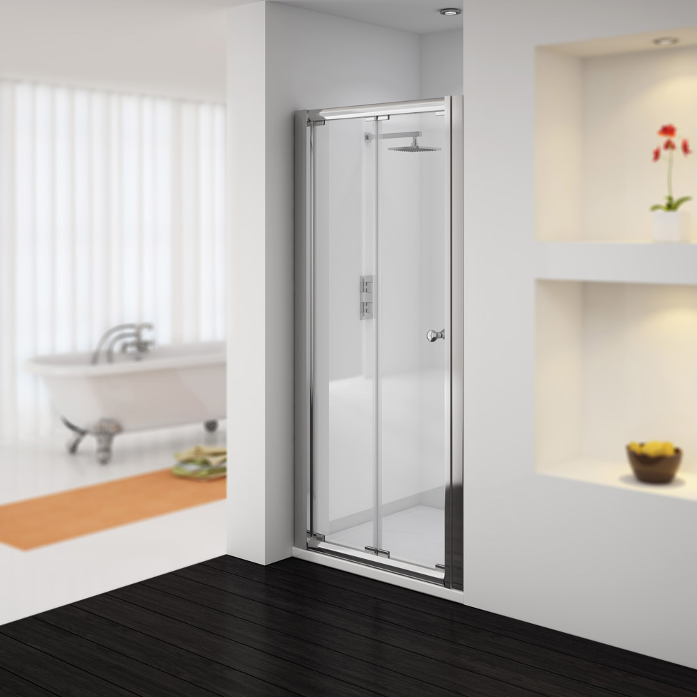 Bifold Bathroom Door : Newark mm bi folding shower door various sizes at