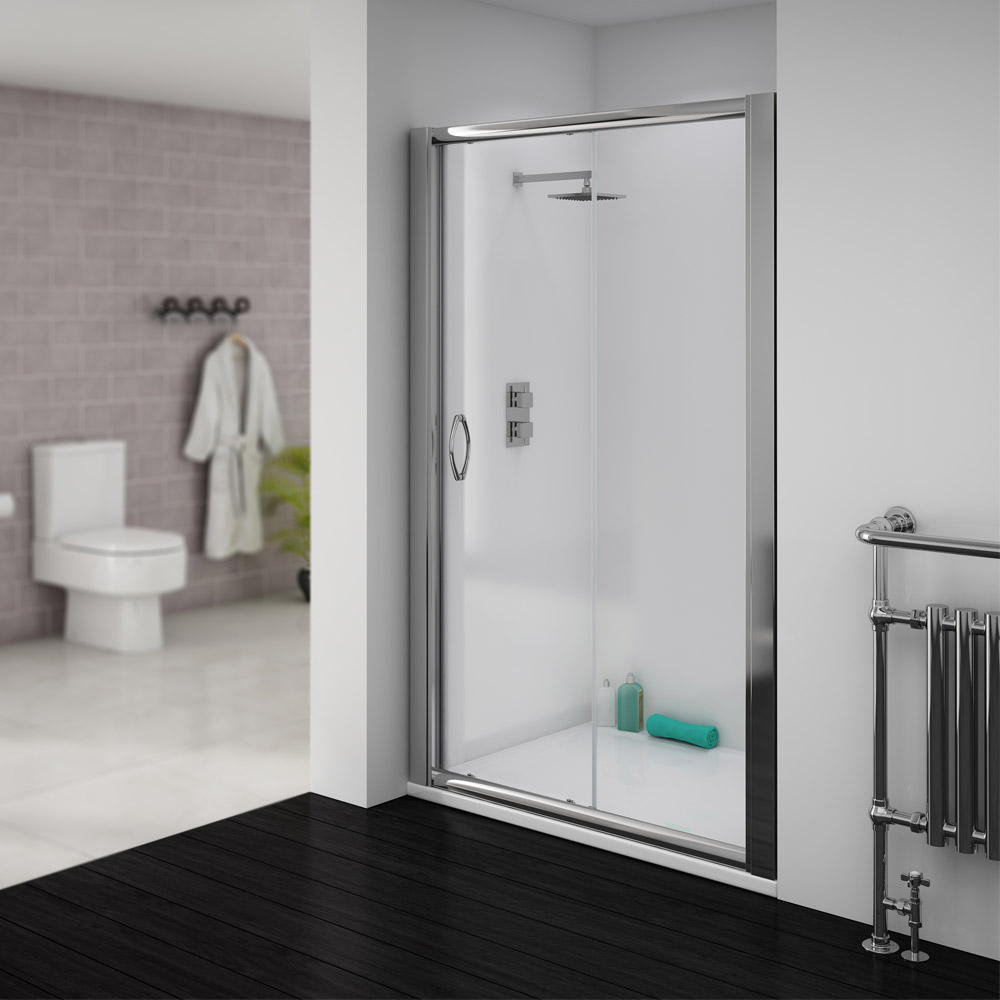 Ventura Sliding Shower Door - Various Sizes (Height - 1850mm) Large Image