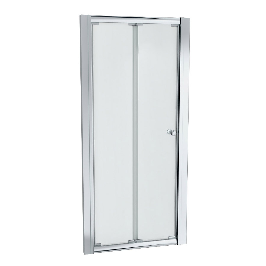 Ventura 760 x 760mm Bi-Folding Shower Enclosure with Pearlstone Tray Profile Large Image
