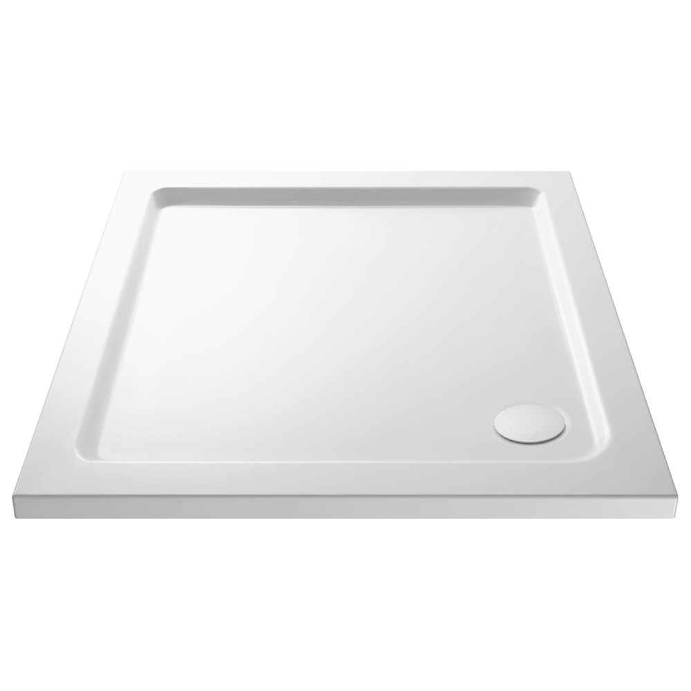Ventura 760 x 760mm Bi-Folding Shower Enclosure with Pearlstone Tray Standard Large Image