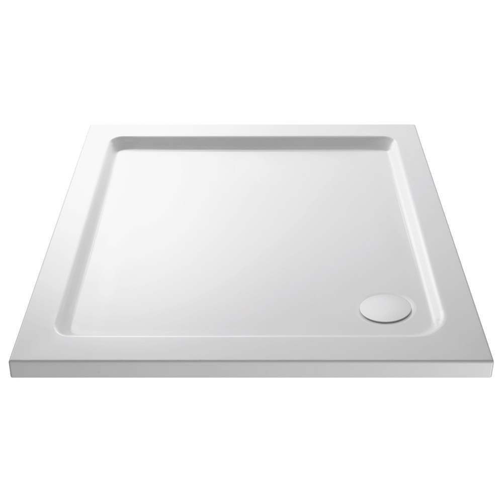 Newark 760 x 760mm Pivot Door Shower Enclosure + Pearlstone Tray profile large image view 4