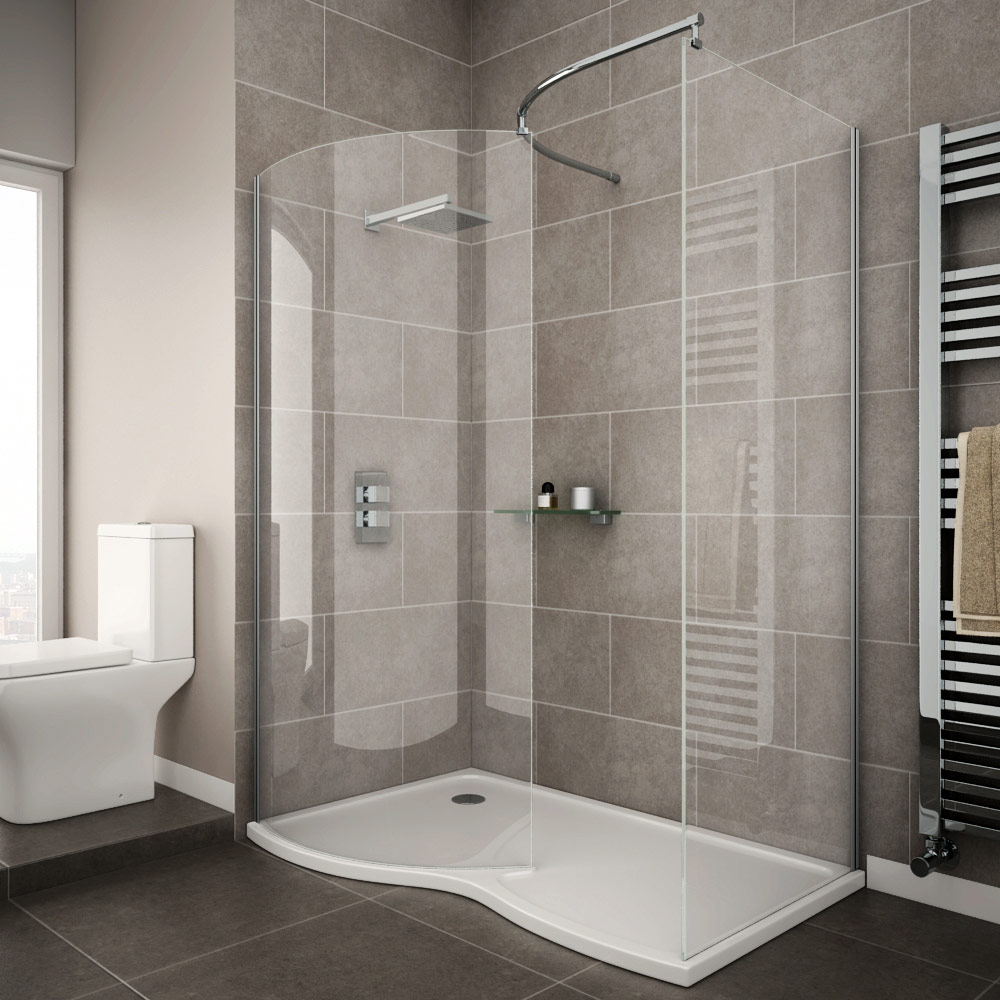Newark curved walk in shower enclosure with tray available online - Small shower enclosures ...