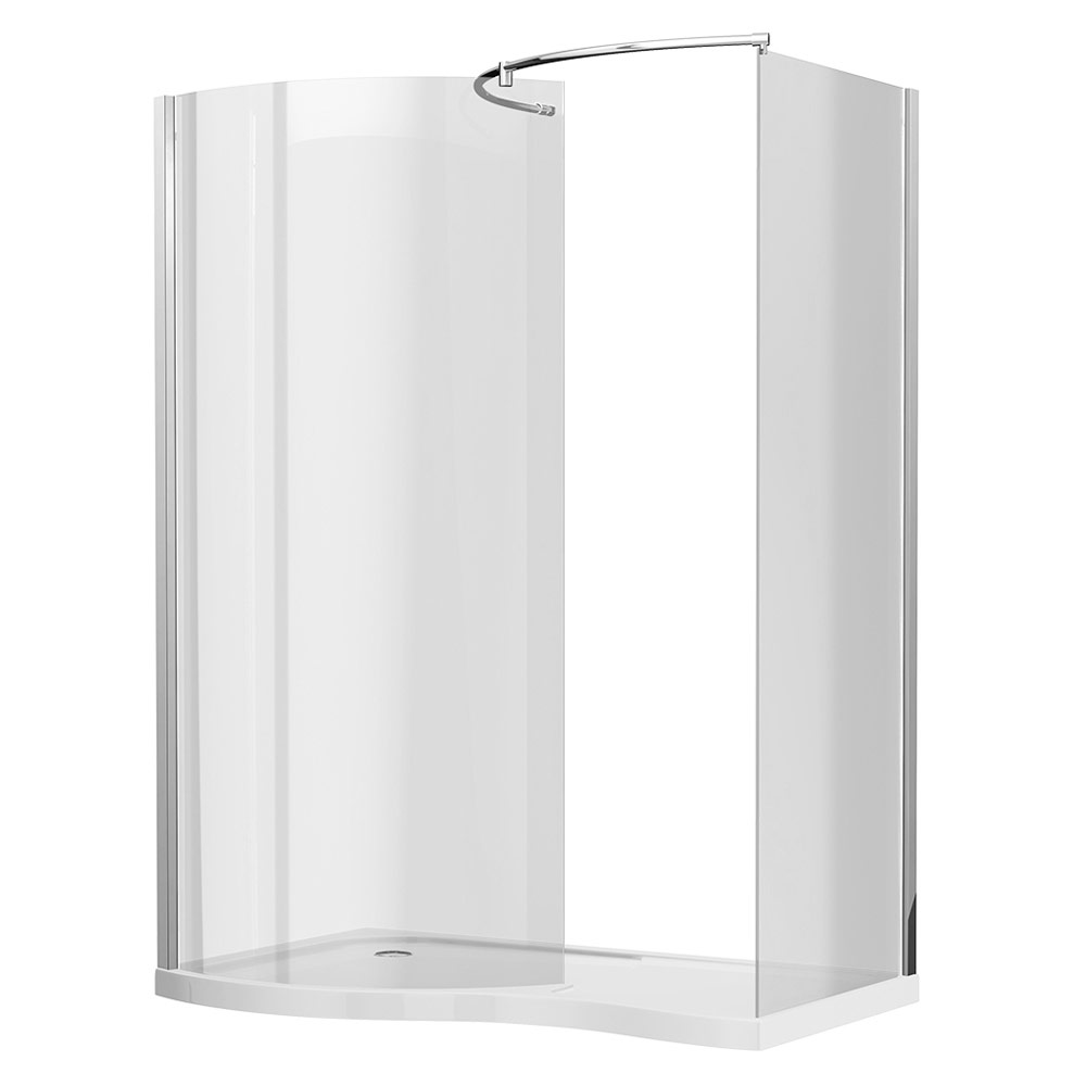 Newark Curved Walk In Shower Enclosure With Tray | Available Online