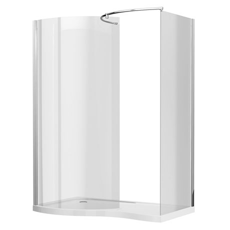 Newark Curved Walk In Shower Enclosure (Inc. Tray + Waste)