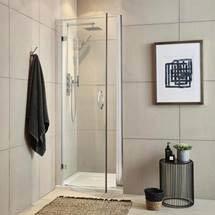 Newark Hinged Shower Door - Various Sizes Medium Image