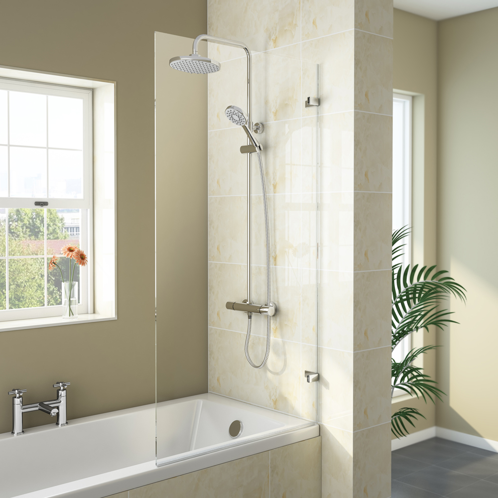Newark Hinged Square Bath Screen (780 x 1400mm) Large Image