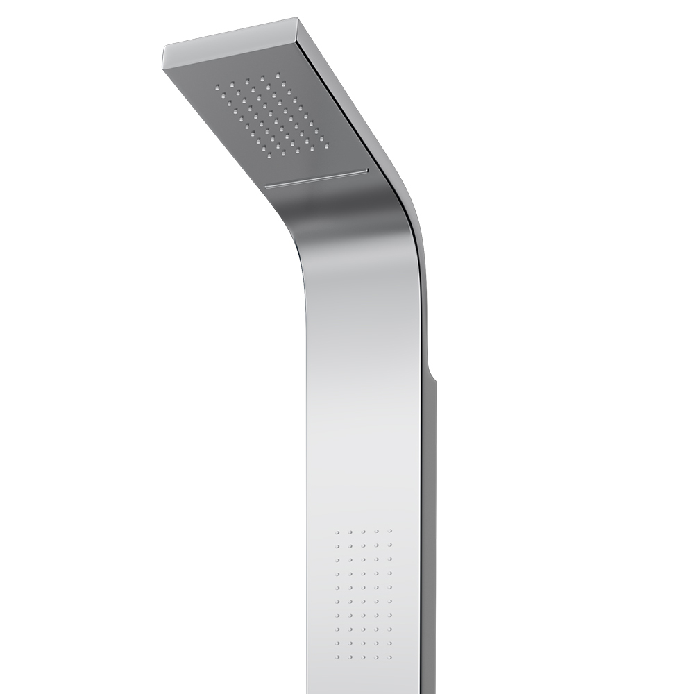 Milan Shower Tower Panel - Stainless Steel (Thermostatic) Feature Large Image