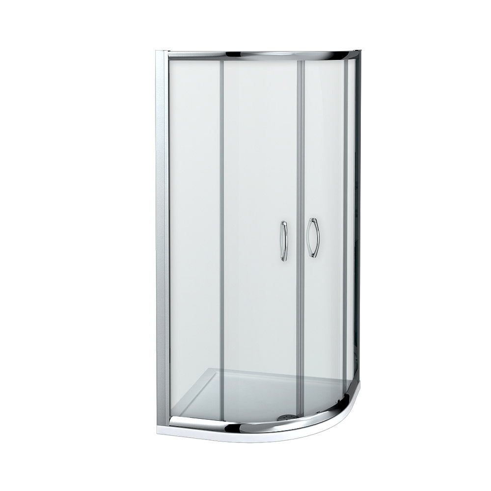 Newark 900 x 900mm Quadrant Shower Enclosure + Pearlstone Tray profile large image view 2