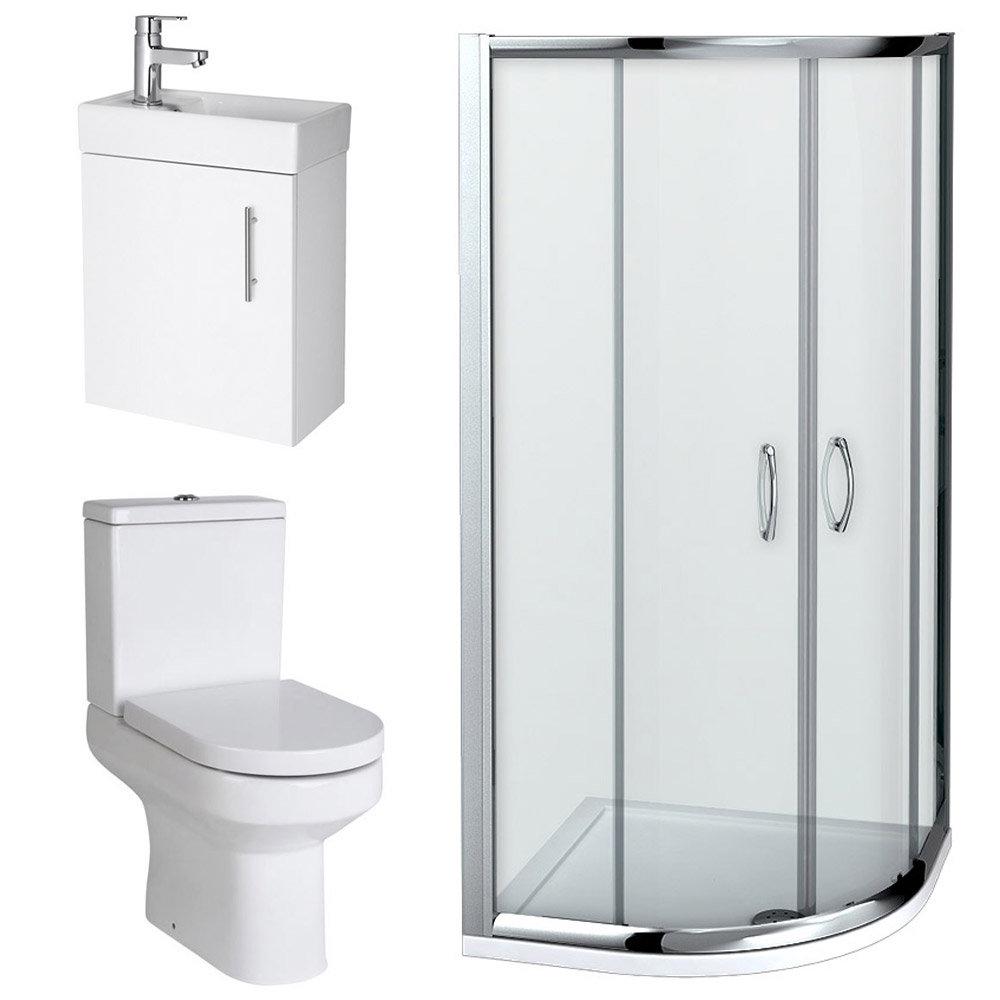 Newark Quadrant Shower Enclosure with En-suite Set profile large image view 2