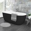 Verona Black Freestanding Modern Bath profile small image view 1