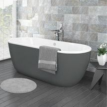 Verona Grey Freestanding Modern Bath Medium Image