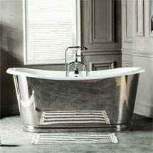 Versailles 1680 x 735mm Roll Top Cast Iron Mirror-Finish Bateau Bath Medium Image