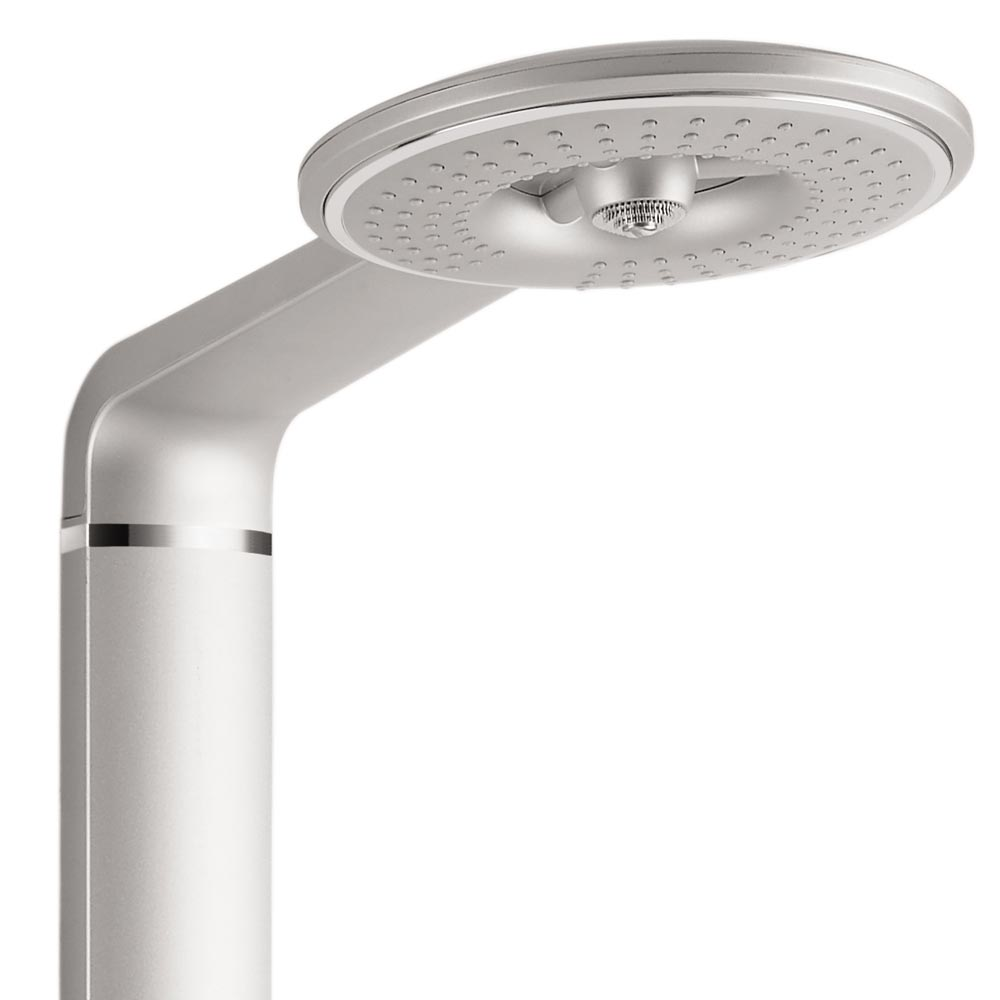 Vesta Round Head Multi-Function Shower Column - Silver profile large image view 2