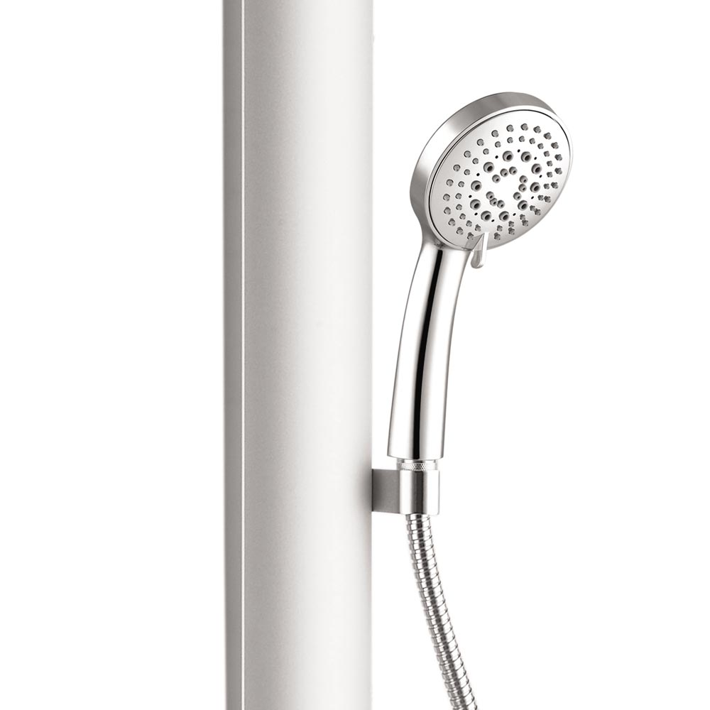 Vesta Round Head Multi-Function Shower Column - Silver profile large image view 3