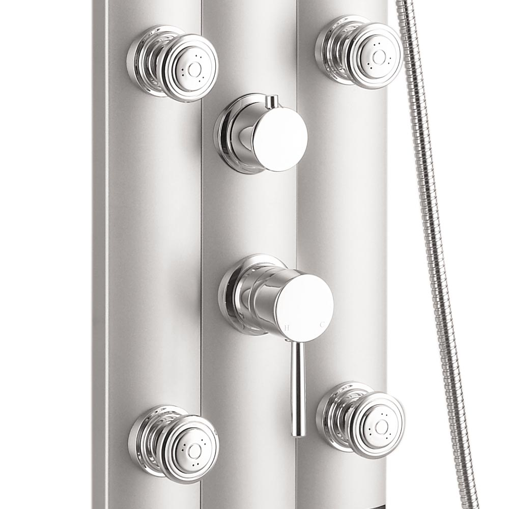 Vesta Round Head Multi-Function Shower Column - Silver profile large image view 4