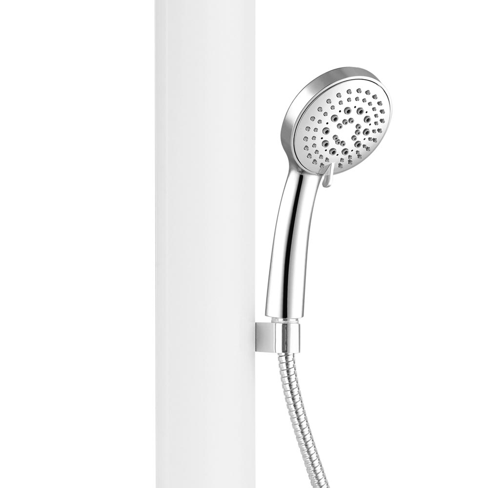 Vesta Round Head Multi-Function Shower Column - White Feature Large Image
