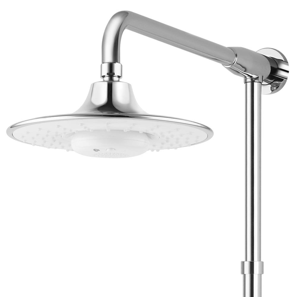 Vesta Shower with Bath Spout and Bluetooth Speaker - Chrome & White profile large image view 4